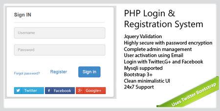سیستم ورود و عضویت پیشرفته Secure PHP Login
