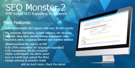 اسکریپت بررسی وضعیت سئو سایت با SEO Monster 2