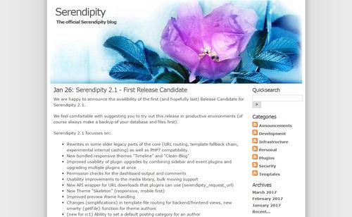 اسکریپت مدیریت محتوای Serendipity
