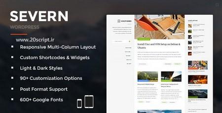 دانلود قالب وبلاگی Severn نسخه ۳٫۱٫۰ برای وردپرس