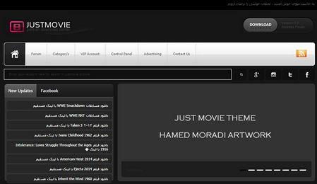 دانلود قالب زیبای Just Movie برای نیوک 8.3