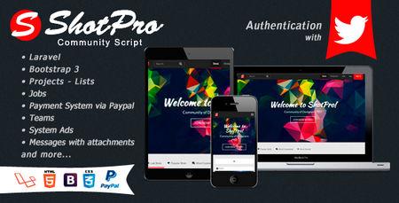 اسکریپت جامعه طراحان و گرافیست ها ShotPro نسخه ۲٫۱