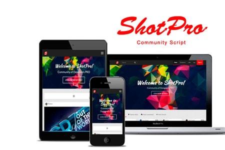 اسکریپت جامعه طراحان و گرافیست ها ShotPro