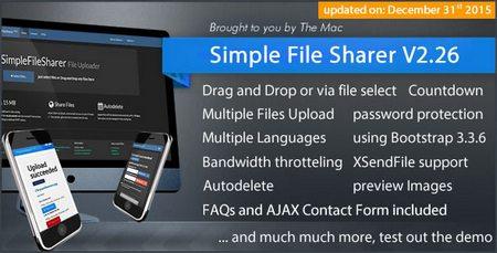 اسکریپت اشتراک گذاری فایل Simple File Sharer نسخه ۲٫۲۵