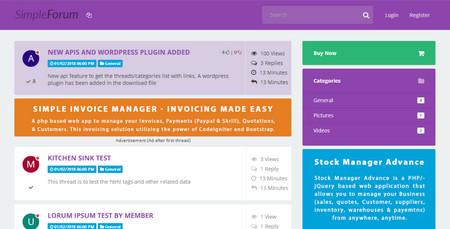 اسکریپت انجمن ساز پیشرفته Simple Forum
