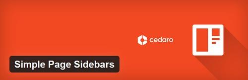 افزونه وردپرس ویرایش سایدبار Simple Page Sidebars