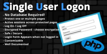اسکریپت ورود کاربران بدون نیاز به پایگاه داده Single User Login