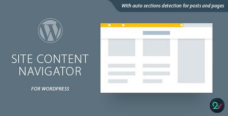 ایجاد نوار پیمایش سفارشی در وردپرس با افزونه Site Content Navigator