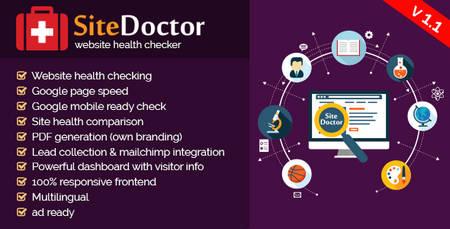 اسکریپت بررسی وضعیت سلامت وبسایت SiteDoctor