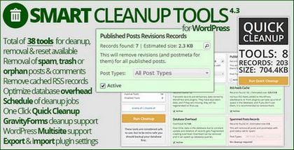 افزونه بهینه سازی وردپرس با Smart Cleanup Tools v4.3