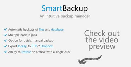اسکریپت پشتیبان گیری وب سایت SmartBackup نسخه 1.1.2