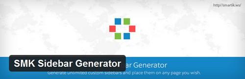افزونه ایجاد سایدبار در قالب وردپرس SMK Sidebar Generator