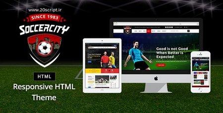 دانلود قالب HTML ورزش فوتبال Soccer Sports
