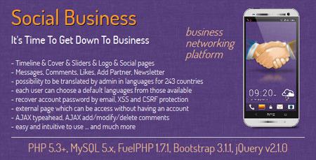 اسکریپت جامعه مجازی مشاغل Social Business