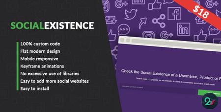 اسکریپت بررسی نام کاربری و برند در شبکه های اجتماعی Social Existence