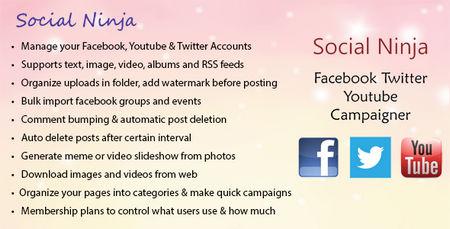 اسکریپت ساخت کمپین شبکه های اجتماعی Social Ninja
