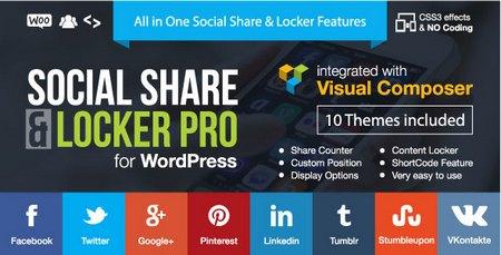 افزونه وردپرس اشتراک گذاری مطلب در ازای دانلود Social Share & Locker Pro