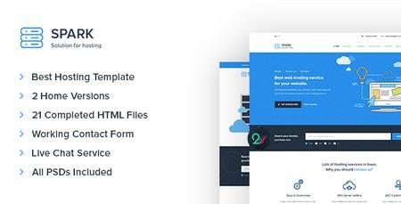 دانلود قالب هاستینگ Spark به صورت HTML