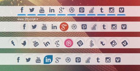 اسکریپت 9 سبک خاص آیکون های متحرک شبکه های اجتماعی