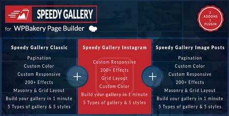 افزودنی ایجاد گالری در صفحه ساز WPBakery با افزونه Speedy Gallery
