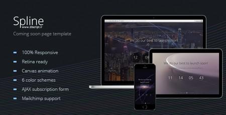 دانلود صفحه به زودی Spline به صورت HTML