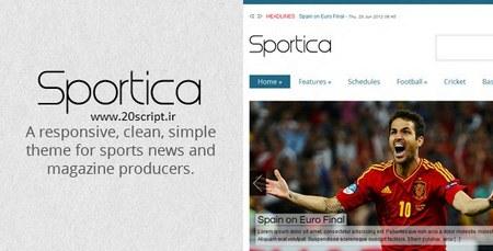دانلود قالب وردپرس مجله خبری ورزشی Sportica
