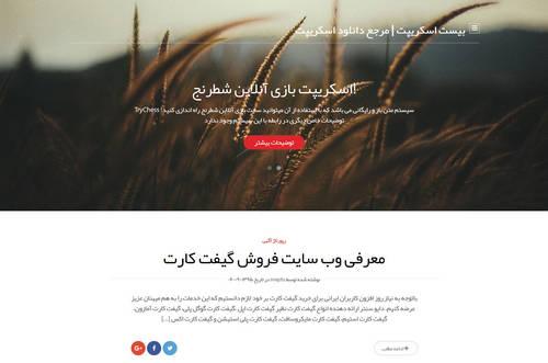 قالب وردپرس سایت شخصی Subtler فارسی