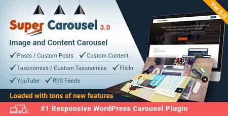 افزونه اسلایدر حرفه ای و ریسپانسیو Super Carousel نسخه 3.4