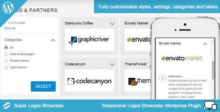 افزونه ایجاد ویترین لوگو ها در وردپرس Super Logos Showcase نسخه 2.0
