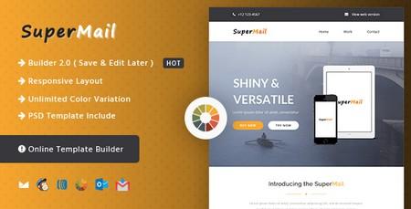قالب HTML ایمیل و خبرنامه SuperMail Agency همراه با صفحه ساز آنلاین