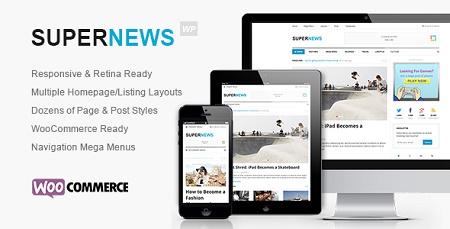 قالب وردپرسی مجله ای خبری Supernews نسخه 1.0.2 برای وردپرس