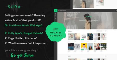 پوسته راه اندازی فروشگاه موزیک Sura برای وردپرس