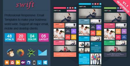 دانلود قالب ایمیل سویفت Swift به صورت HTML