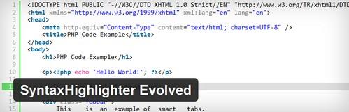افزونه وردپرس درج کد در مطالب و برگه ها SyntaxHighlighter Evolved