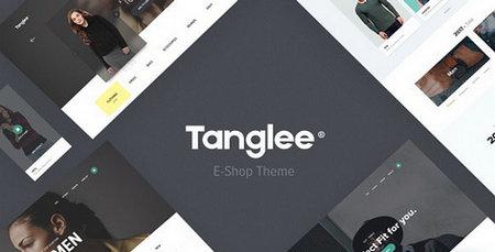 دانلود قالب لایه باز سایت فروشگاهی Tanglee
