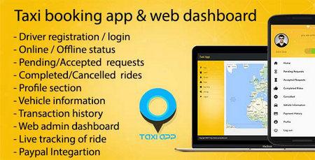 اسکریپت درخواست تاکسی آنلاین Taxi booking به همراه اپ موبایل