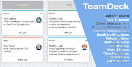 اسکریپت مدیریت پروژه TeamDeck نسخه 3.2.1