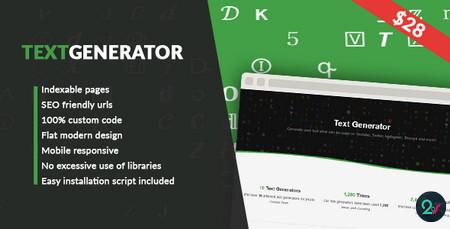 اسکریپت خدماتی متن ساز Text Generator