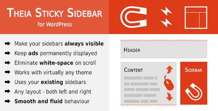 ایجاد سایدبار چسبان در وردپرس با افزونه Theia Sticky Sidebar نسخه 1.8.0
