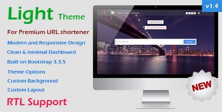 دانلود قالب Light Theme نسخه 1.4 برای Premium URL Shortener