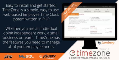 اسکریپت مدیریت زمان کارمندان TimeZone