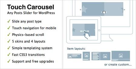 افزونه وردپرس ایجاد اسلایدر لمسی TouchCarousel