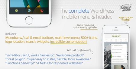 افزونه ایجاد منوی موبایل در وردپرس Touchy نسخه 2.8