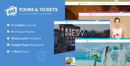دانلود قالب HTML تور و بلیط Tours & Tickets