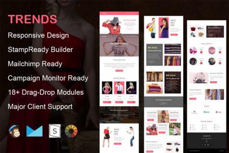 قالب ایمیل فروشگاهی Trends به صورت HTML