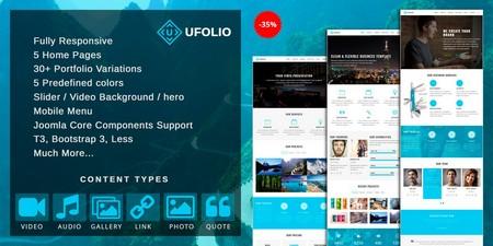 دانلود قالب نمونه کار Ufolio برای جوملا