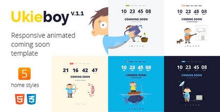 دانلود قالب HTML صفحه به زودی UkieBoy