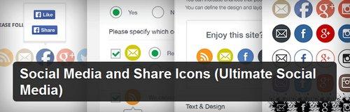 افزونه وردپرس ایجاد آیکن های اشتراک گذاری مطالب Social Media and Share Icons