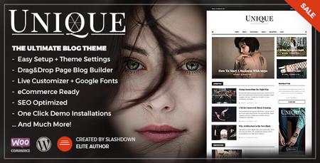 دانلود قالب مجله خبری و شخصی Unique برای وردپرس