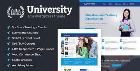 دانلود قالب آموزش و پرورش University نسخه 2.0.8 برای وردپرس